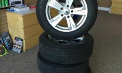 4 Michelin Latitude Winter Tires. Excellent Shape. Mounted on Nice DAI Rims (not cheap steel ones) . Lots of tread on them. I bought a new vehicle and they dont fit or I would use them. Came off 2013 Dodge Journey but will fit others. Rim Size 17x7.5J. I