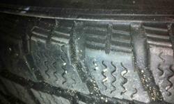"On steel rims, light use - good tread. 5 bolt pattern 4.5"""