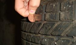 We are selling 4 winter tires ( WinterForce). The tires are used and currently have 4 rims installed on them. The tires came off a 1994 ford tempo. 2 rims are steel and 2 are ford, but all 4 tires are the same and purcharsed at the same time..No longer