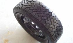 Winter Tires on Steal Rims. Good Tread Left. Came off a 1997 golf, car died and bought another but unfortunately needed 15' or I would have kept these.   $125.00 obo.