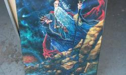 WIZARD POSTER ON BOARD,,,30 BY 48 in,,,,MAKE A GREAT X-MAS GIFT
