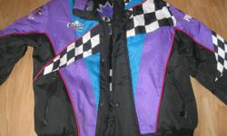 Woman's Choko pro-racing jacket Size Large Hand-wash - Hang to dry Color - black/purple/blue/white/pink $25 can meet in west end of ottawa (kanata) or pickup in Constance Bay