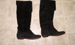 Women's Black Suede (Chinese Laundry) Knee High Boots Size 7 Asking Price $60 For Immediate Response Text/Call: Carol at: 613-204-9904 Email= dinelle.ch@gmail.com