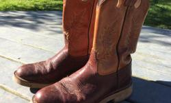 Cowboy boots labelled 7 1/2 - fit more like and 8-8.5.. Narrow. Come try on. Beauty legit cowboy boots. Open to reasonable offers. Excellent, new condition