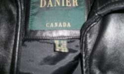 Ladies Danier Leather Jacket with liner for sale.  Color:  Black , Size:  Large  Only worn a few times.  Just like new.  Please call 876-7324 if interested.