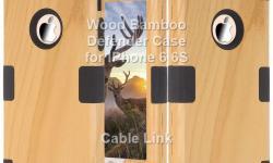 Unique Design Wood Bamboo Hybrid Defender Case for IPhone 6 6S -Unique Wood Bamboo style. ideal for gift -Special 3-Piece double layer combo design. Inner layer is make of soft silicone Material. Outer are make of rigid plastic -Protect your phone from