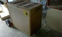 Sears wood stove for sale, barely used. My guess is around 80,000 btuh. Comes with a section of single wall stove pipe and flue temperature gauge. Great for a cottage or garage!