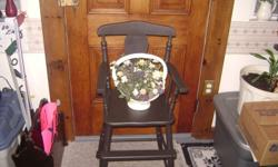 MADE OF SOLID WOOD AND IS GOOD CONDITION PLEASE CALL 519-337-4088 AND ASK FOR JOHN