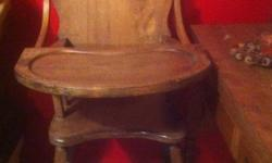 Solid wooden High chair This ad was posted with the Kijiji Classifieds app.