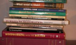 16 Books on Woodworking (working with a router, working with a scroll saw, how to make wooden toys.....) $40 or best offer. Large selection of other books, see additional ads