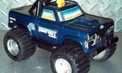 Working 1983 4X4 Bigfoot Playschool Truck.Lost the key but it works with a flat key dud or a flat (slotted) screwdriver not really an issue.