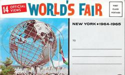 Worlds Fair New York 1964 Postcard Set of 14 Official Photos, inlcuding Monorail, Coca Cola, Kodak. This great vintage Worlds Fair New York 1964 Postcard Set of 14 official photos is in Excellent solid condition with no rips, tears or writing and all