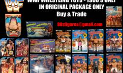 WANTED TO BUY OR TRADE WWF Wrestling Toys - 1980's/90's ONLY !! - In Original Package ONLY !! I HAVE MANY MOC 8 Inch Figures & MANY Loose Items for TRADE ! LJN WWF Wrestling Superstars Toyline : 8 Inch Rubber Wrestling Action Figures 4 Inch Rubber