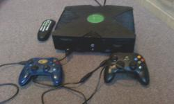 X-BOX& 27 inch Ascent tv for $100 or best offer  1 black and 1 blue controller plus DVD remote with the xbox and  2 games ( Prince of Persia-The two thrones&Warrior Within) Ascent TV with remote