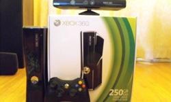 Xbox 360 250GB plus Kinect and 9 Games!! Also comes with one controler and origanal box!! Only had it for about a year, just never play it. Would make a great Christmas presesnt! Xbox Games : Fable 3 Fuel Rise Of The Silver Surfer Beowulf Jericho Kinect
