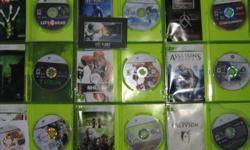 Selling 10 Xbox 360 games. All games come with case and manuals. Games include:   Assassins Creed $20 Batman: Arkham Asylum $25 Crackdown $20 (small cracks in disc but game still works) Xbox Live Arcade Unplugged / Ghost Recon Advanced Warfighter $25 Left
