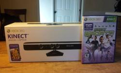 """Previously listed as a """"Wanted Item"""" by accident. This is for sale. Xbox Kinect because it never gets used. It comes with the box, all the wires, and 2 games, in great condition, taken with the UTMOST care, all wires and accessories are included. Total"""