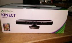 2 brand new XBOX 360 Kinect Sensors. Still in box, never opened. Contains: Kinect Sensor Power supply cord Kinect Adventures game Manual WiFi Extension cable $75 each