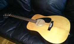 Here is a Yamaha F-310 acoustic guitar. Guitar has just been set up with new strings, plays and sounds great with low action. Priced at $85 for quick sale. Please call or email.