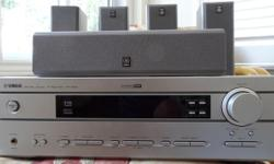 Selling a package with a Yamaha AV receiver and complete 5.1 Yamaha speaker system. Includes all necessary wiring. Pict of subwoofer to be added. It is in excellent condition and from a pet and smoke free home.