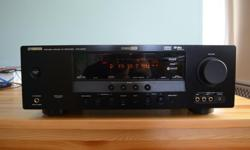 This Receiver is in Excellent, near Mint Condition and works perfectly Comes complete with the all important Remote and Manual AV Receiver performance taken to a new level with high-end features including Yamaha's new SCENE, Compressed Music Enhancer, XM
