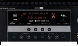 Yamaha receiver in excellent condition. Comes with remote, manual, Fm plug in antenna. Has three HDMI - 2 input and one output and runs 5 speakers plus sub woofer with combined power of 525 watts. Has many features which can be reviewed here