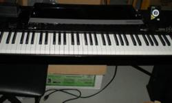 Excellent condition. Works great.  Includes a bench, pedal and original manual.  Will also throw in the electronic metronome.  Bring a truck and a friend to help.  Its large and heavy in the basement.