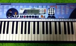The reason for selling is that Im not using it any more its in excellent condition its battery or DC operated.  Its has many features such as.   Voices  x 100 -PIANO -ORGAN GUITAR -STRINGS/MALLET -WIND   Styles x 100 -POP -DANCE/DISCO -SOUL/ROCK -JAZZ