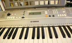 This Piano/Keyboard has rarely been used since I purchased it brand new about a year ago. I don't have enough time to get into lessons, so it has not seen much use over the past few months. Everything is in top notch condition... Included: - Yamaha