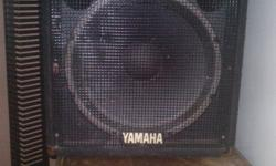 I HAVE A SET OF YAMAHA 15`S AWESOME SPEAKERS GIVE ME A CALL IF YOU WANT TO COME HEAR THE PUPPIES IN ACTION 436 3012
