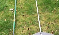 1 plastic rake - great for gathering leaves 1 long tooth metal rake Both are in great condition. Selling as a set. Asking $30 for both obo.