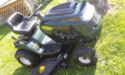 2009 but only used 2 years, 17.5 hp Briggs and Stratton engine engine, 42 inch deck, 6 speed trans, lights, new battery, works and looks like new.