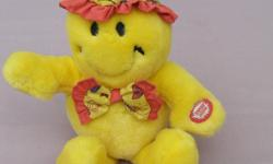 this is a very cute Bear a great Birthday Gift, press his hand he wiggles and sings Happy Birthday for you, a very happy Bear, he is in vg condition, selling the Bear for $5 * I'm Retiring > click on View seller's list > to see my vintage, collectibles,
