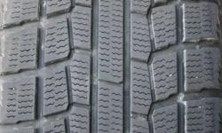 """These tires are in very good condition.  They were purchased for a vehicle which I have now traded in.  Used on a 2005 PT Cruiser for two winters and were driven approximately 20,000 kms.  195/65R15.  The rims are 15"""" x 6""""; 5-100 mm bolt circle."""