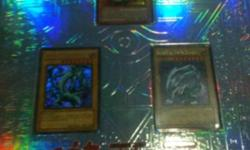 Over 400 plus yugioh cards 95% mint condtion yugioh collectors binder filled with48 halo srares ultra rares the dark magican girl alone is 45$ dollars and binder is 35$ on its on will let the whole colloction go for 75$ but will take offers plz contact me