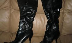 Black High Heel Boots Size 9 Good condition Heel Height 4 inches Zipper on side ONLY $10 Brand - Zeria can meet in west end of ottawa (kanata) or pickup in constance bay
