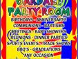 For RENT - PARTY LOCATION    ? Birthdays ? Anniversarys ? Communions ? Baptisims  ? Meetings ? Reunions ? Baby Showers ? Dinner Parties ? Sports Events ? Trade shows ? BBQ?s ? Graduations ? ANY OCCASION